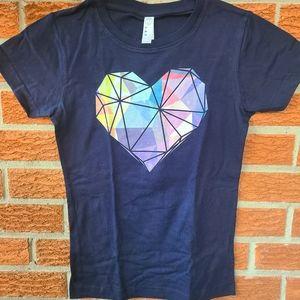 NEW XL Tshirt Heart Cute Girl's 100% cotton